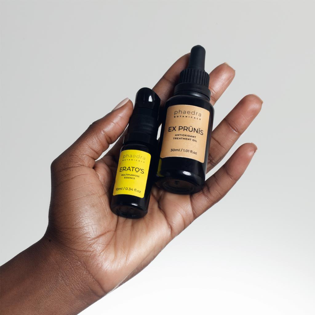 Ex Prūnīs Antioxidant Treatment Oil and Eratō's Multipurpose Essence